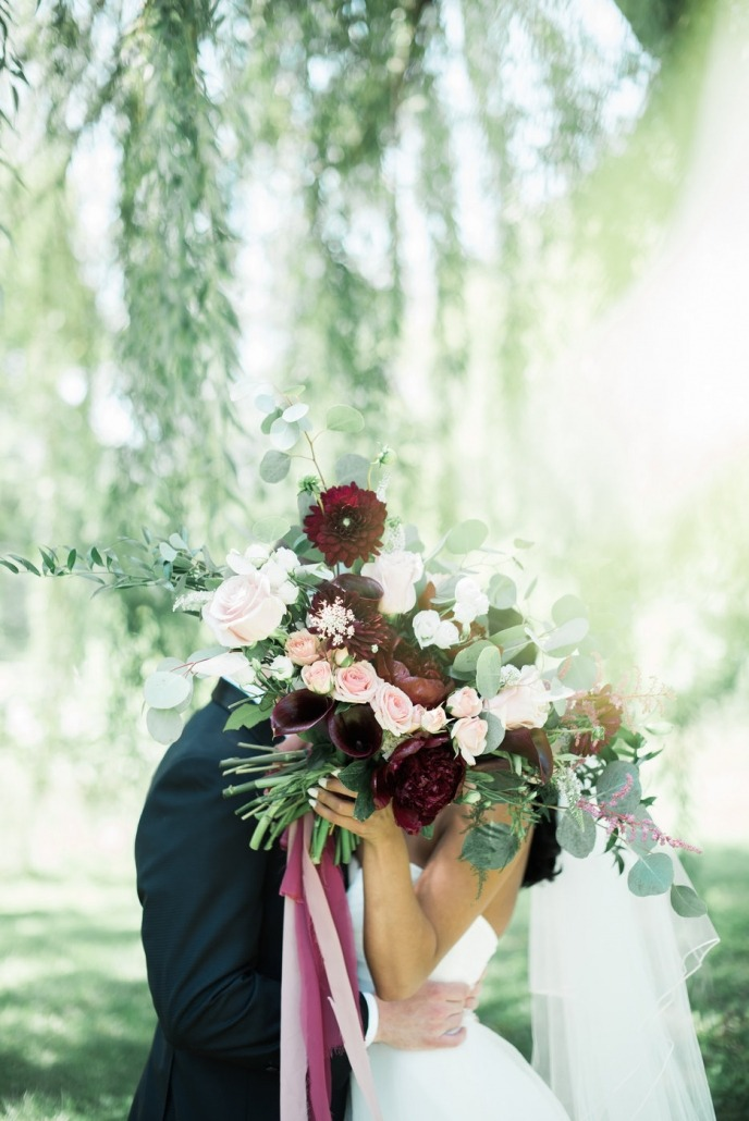 Memorable Moments by Every Bloomin' Thing bride and groom flowers