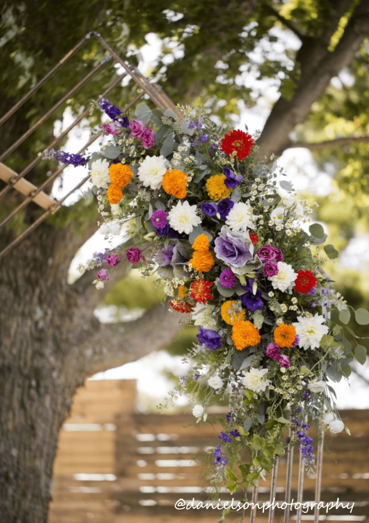 Floral arrangement with arch in Iowa City, Iowa