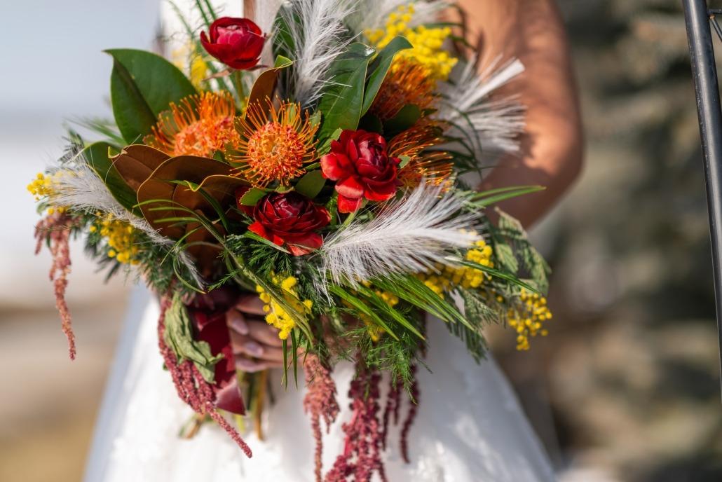 Bride Holding Beautiful Bouquet